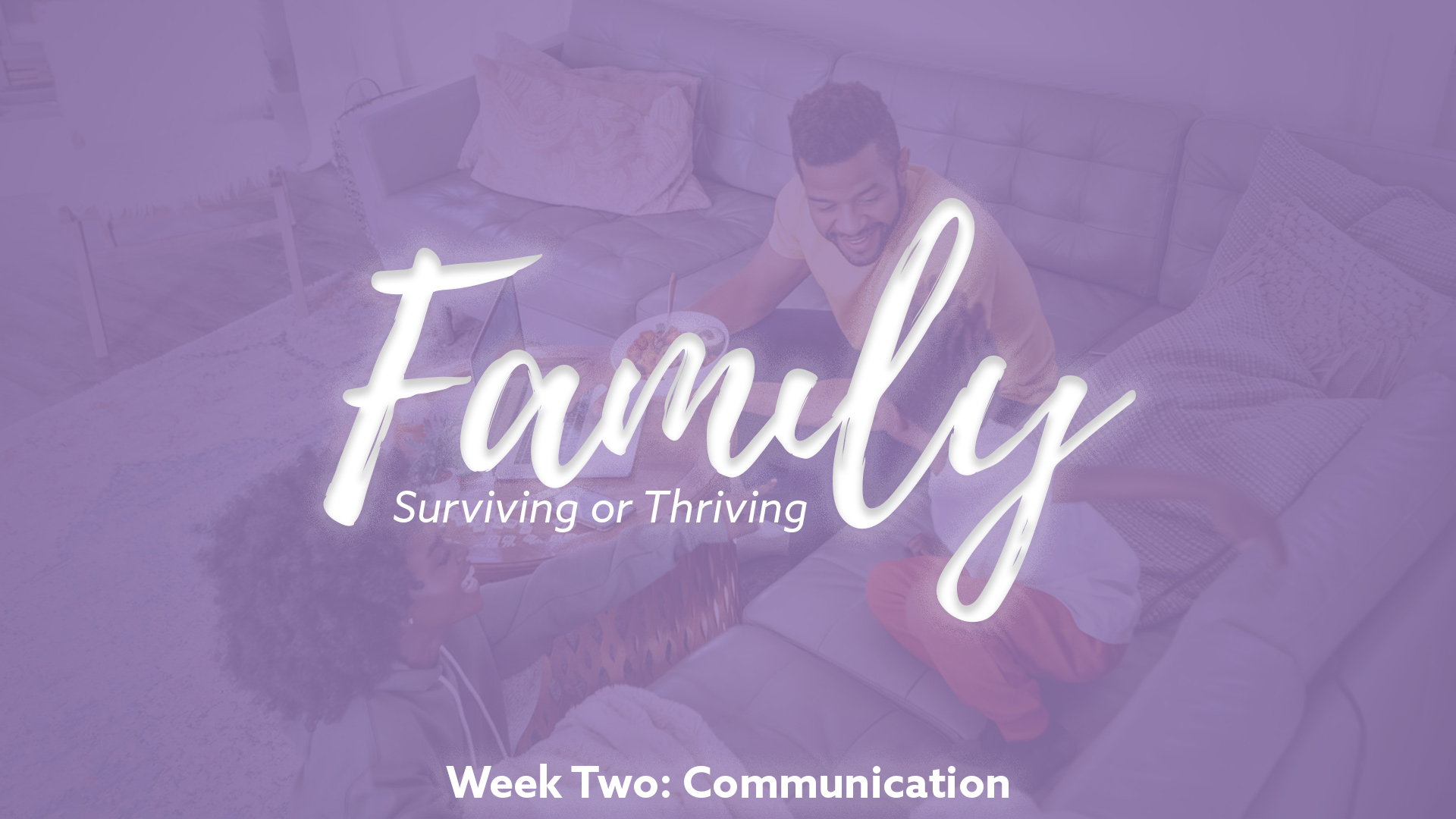 Family – Surviving or Thriving: Communication